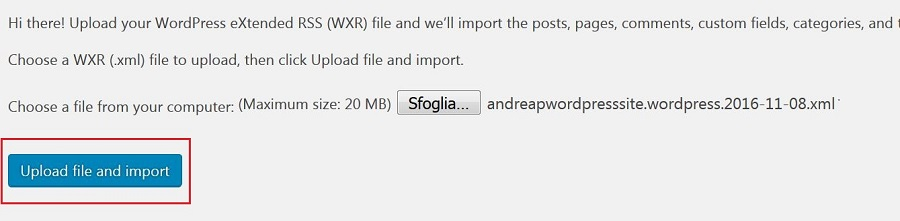 WP Tools Import WordPress Upload and Import Button